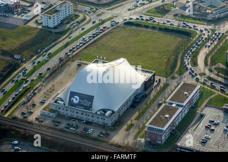 Aerial, Stage Metronom Theater, Phantom of the Opera, musicals, Oberhausen, Ruhr, Nordrhein-Westfalen, Germany, - Stock Photo