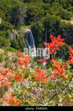 Krka national Park, waterfall Manojlovac. - Stock Photo