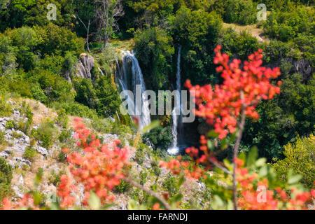 Krka national Park, waterfall Manojlovac - Stock Photo