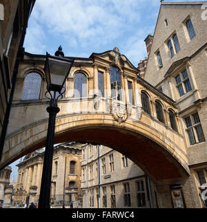 HERTFORD BRIDGE Hertford College Oxford View of the covered bridge over New College Lane Built between 1913-1914 - Stock Photo