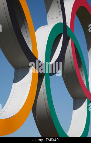 Close up of olympic rings. - Stock Photo