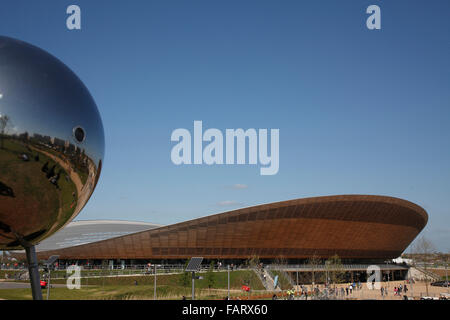 The velodrome and reflective spherical sculpture. - Stock Photo