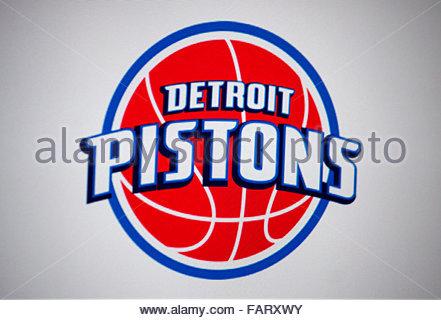 Markenname: 'Detroit Pistons', Berlin. - Stock Photo