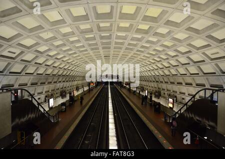dupont circle washington metro trains ceilings usa - Stock Photo