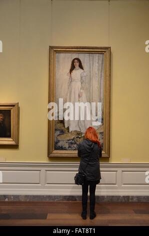 Whistler, James McNeill, American, 1834 - 1903 Symphony in White, No. 1: The White Girl  1862 National Gallery of - Stock Photo