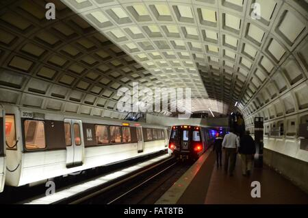 washington metro trains ceilings usa - Stock Photo