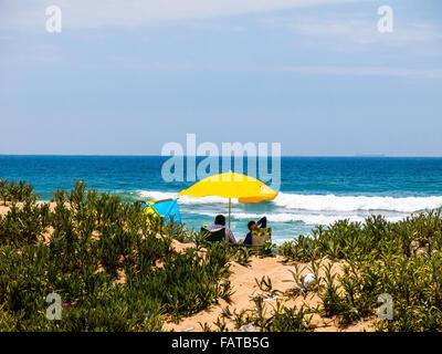Durban beachfront on 2nd January 2016 - Stock Photo