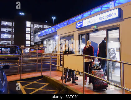 Terminal 2 manchester airport england holiday continental airline holiday makers entering meet and greet car parking reception at manchester airport terminal 1 england m4hsunfo