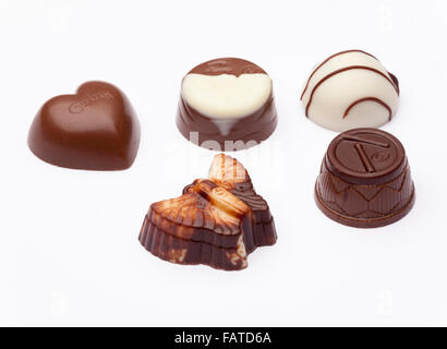 Guylian assorted Praliné chocolates - Stock Photo