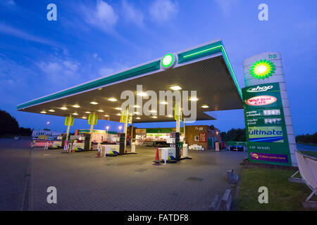 BP petrol station in the UK - Stock Photo
