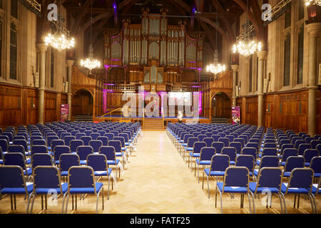 University of Manchester interior of the Whitworth Hall room with its grand organ   The Whitworth Hall on Oxford - Stock Photo