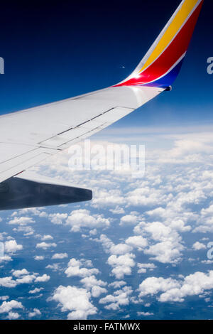 View from Southwest Airlines airplane window - Stock Photo