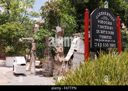 Metal sculptures on roadside, Oak Avenue, Cullinan, City of Tshwane Municipality, Gauteng Province, Republic of - Stock Photo