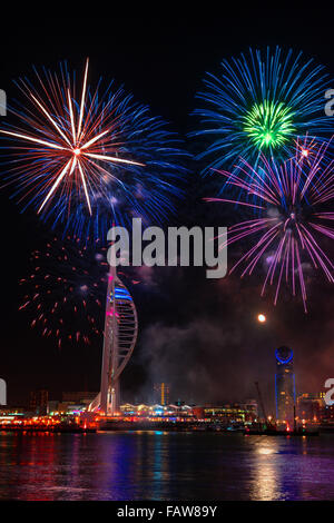 Portsmouth firework - Stock Photo
