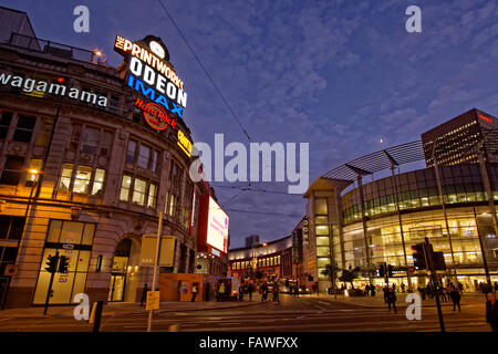 The Printworks and Arndale Centre on Corporation Street in Manchester city centre, England UK. - Stock Photo