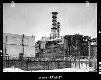 Chernobyl reactor - Impressions from Pripyat, a ghost town in the Ukraine, which was established in 1970 in connection - Stock Photo
