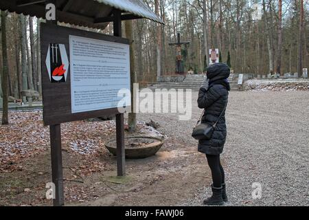 Szpegawsk, Poland 5th, January 2015 In the forest near Szpegawsk, northern Poland (Las Szpegawski) German Nazis - Stock Photo
