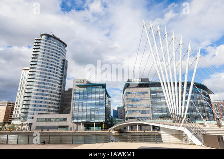 BBC at Media City UK, Salford Quays, Manchester, England, UK - Stock Photo
