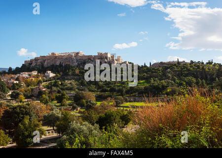 Acropolis of Athens; Athens, Greece - Stock Photo