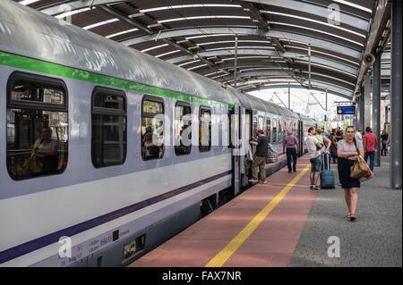 railway station in Katowice, Silesia, Poland - Stock Photo