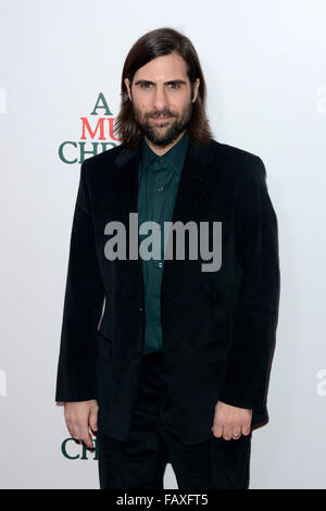 A Very Murray Christmas New York Premiere - Red Carpet Arrivals  Featuring: Jason Schwartzman Where: New York, New - Stock Photo