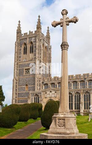Holy Trinity Church; Long Melford, Suffolk, England - Stock Photo