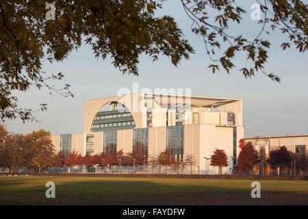 Bundeskanzleramt - the German Chancellery building in Berlin, Germany - Stock Photo