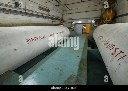 water tanks in bunker of Josip Broz Tito, leader of former Yugoslavia, near Konjic (Bosnia and Herzegovina), completed - Stock Photo