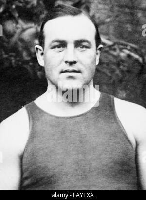 Vintage photo of Canadian-born boxer Tommy Burns (1881 – 1955) – World Heavyweight Champion from 1906 to 1908. Burns - Stock Photo