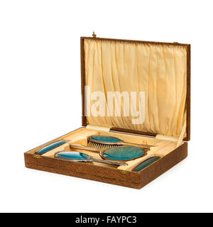 Vintage boxed ladies dressing table vanity set - Stock Photo