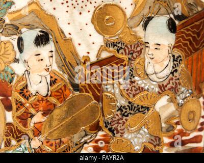 Antique Japanese Satsuma Vase Stock Photo 105039685 Alamy