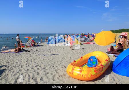 Poel island, Timmendorf, beach Baltic Sea, Mecklenburg Western Pomerania, Germany, Europe - Stock Photo