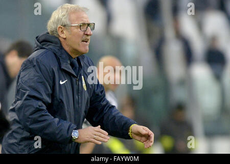 Turin, Italy. 6th January, 2016. Luigi Delneri, Torino 06-01-2016, Juventus Stadium, Football Calcio 2015/2016 Serie - Stock Photo