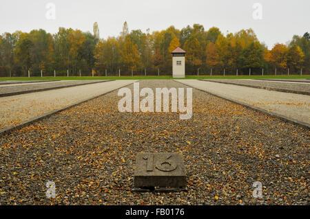 Lagerbaracken (Barracks), KZ-Gedenkstatte Dachau (Dachau Concentration Camp Memorial Site), Dachau, Oberbayern (Upper - Stock Photo