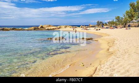 The beach near Lumio, Balagne, Corsica Island, France - Stock Photo