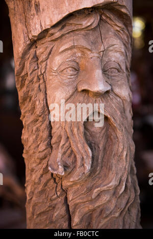 Village Field. Wooden modern and carved motifs