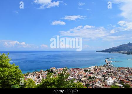 Lookout from Bohali in Zakynthos in Summer,Greece - Stock Photo