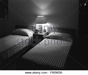 Furniture displays at Marshall Field and Company, 1942 Sept. 23. Bedroom. - Stock Photo