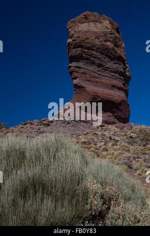 Los Roques de Garcia, Mount Teide National Park, Tenerife, Canary Islands, Spain - Stock Photo