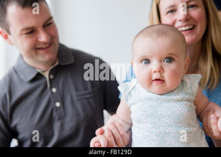 Parents with baby daughter (12-17 months)