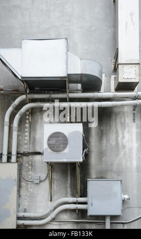 Air conditioner on wall - Stock Photo