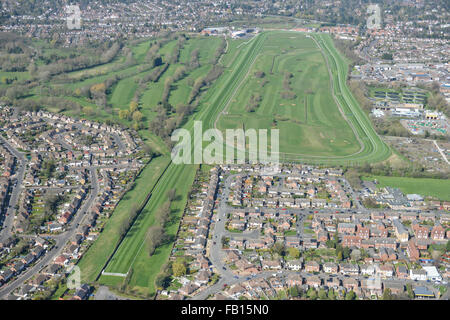 An aerial view of Leicester Racecourse - Stock Photo