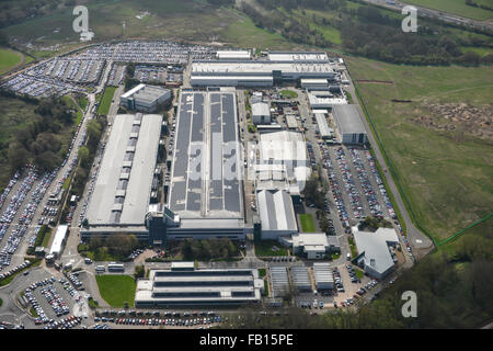 An aerial view of the Whitley Plant in Coventry, headquarters of Jaguar Cars - Stock Photo