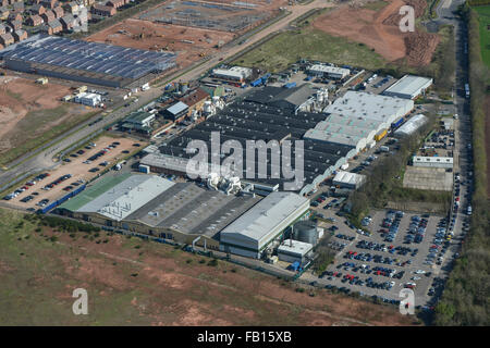 An Aerial View Of The Former Jaguar Plant At Browns Lane Coventry Stock P O