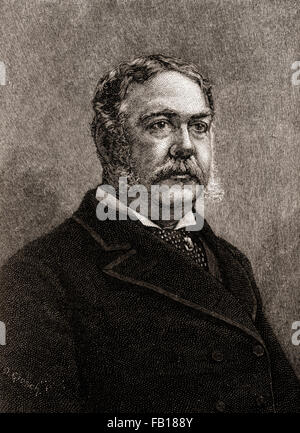 Chester Alan Arthur, 1829 –1886.  American attorney, politician and 21st President of the United States of America. - Stock Photo