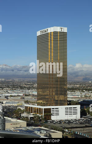 A view of the 64-stories tall  Trump Hotel Las Vegas, which is the talles occupied building in Las Vegas, USA, 6 - Stock Photo