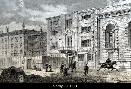 The General Post Office, Lombard Street, 1800, London - Stock Photo