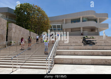 Entrance to the Art museum, Getty Center, Los Angeles, California, USA - Stock Photo