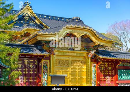 Toshogu Shrine in Ueno Park in Tokyo, Japan. - Stock Photo
