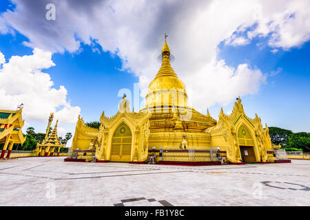 Yangon, Myanmar at Maha Wizaya Pagoda. - Stock Photo
